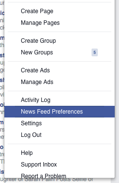 News Feed Preferences - desktop